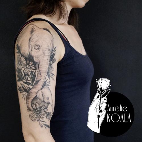 Tatouage Rouen Aurélie Koala
